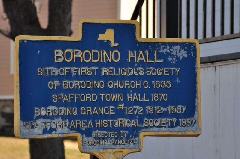 Borodino Hall Marker image. Click for full size.
