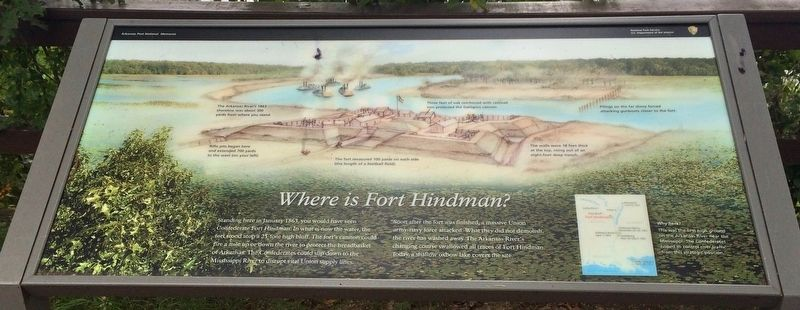 Where is Fort Hindman? Marker image. Click for full size.