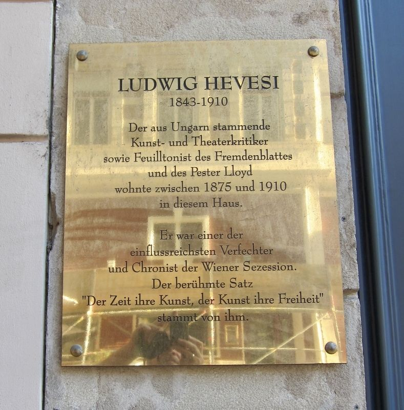 Ludwig Hevesi Marker image. Click for full size.