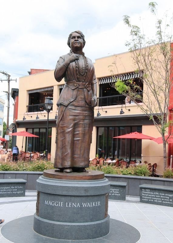 Maggie Lena Walker Memorial Statue image. Click for full size.
