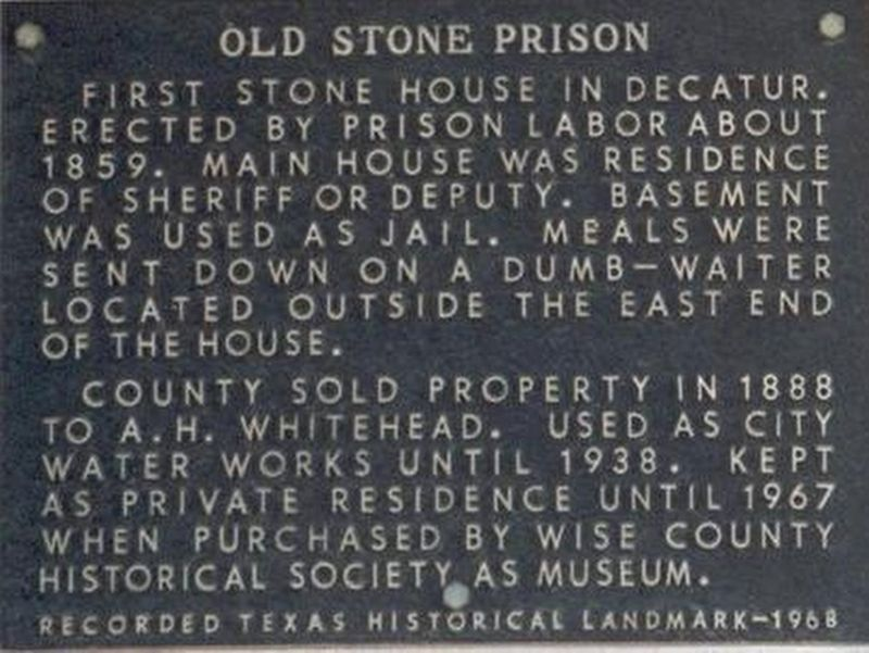 The Old Stone Prison Marker image. Click for full size.