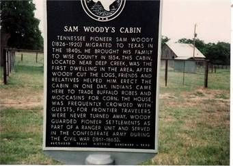 Sam Woody's Cabin Marker image. Click for full size.