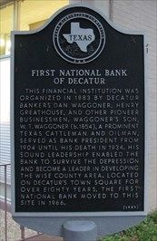 First National Bank of Decatur Marker image. Click for full size.