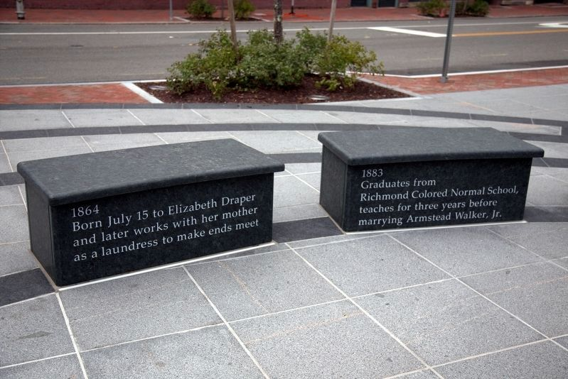 Maggie Lena Walker Memorial Benches image. Click for full size.