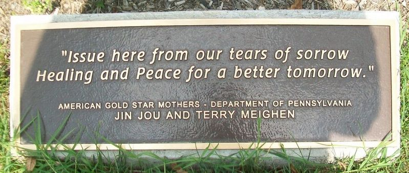 Veterans Memorial Gold Star Healing & Peace Garden Marker image. Click for full size.