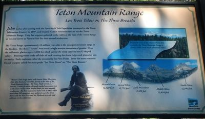 Teton Mountain Range Marker image. Click for full size.
