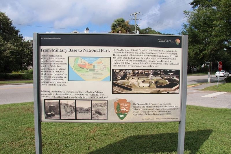 From Military Base to National Park Marker image. Click for full size.