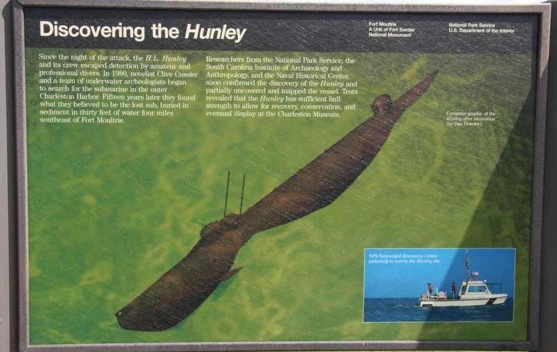 Discovering the <i>Hunley</i> Marker image. Click for full size.