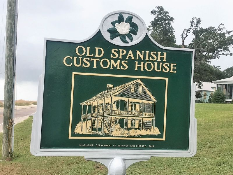 Old Spanish Customs House Marker image. Click for full size.