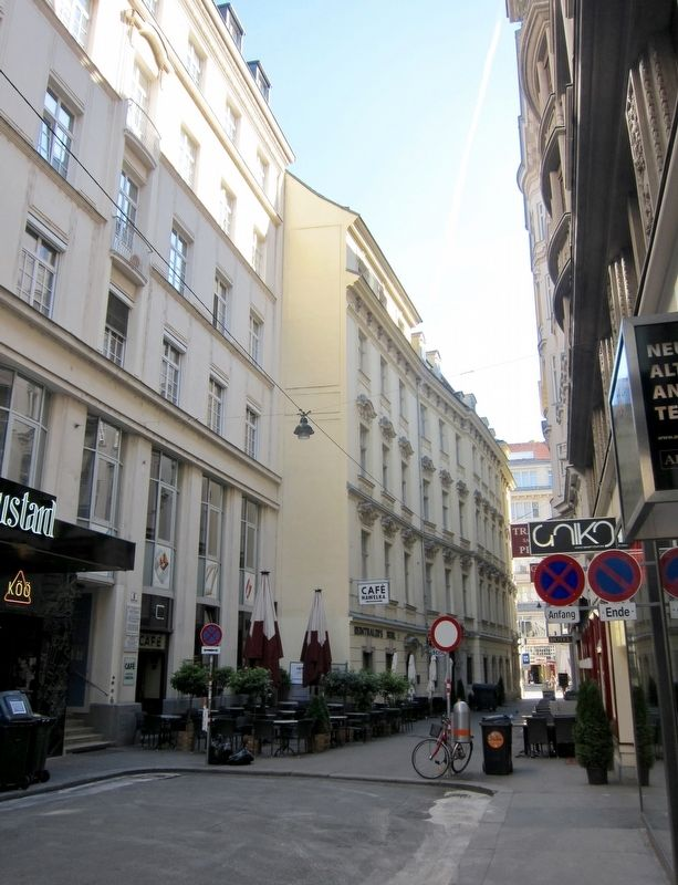 Adolf Frankl Marker - Wide View, Looking North on Dorotheergasse image. Click for full size.
