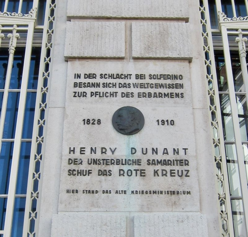 Henry Dunant and the Red Cross Marker image. Click for full size.