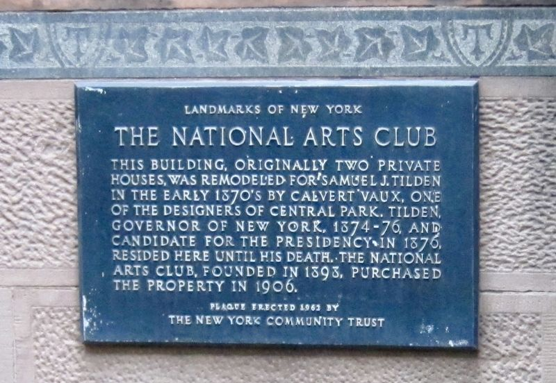 The National Arts Club Marker image. Click for full size.