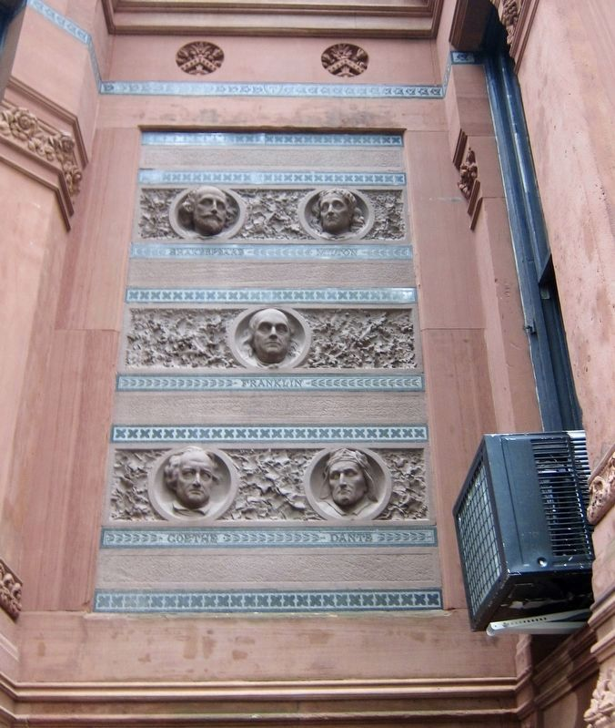 The National Arts Club - Decorative Detail Found Above the Marker image. Click for full size.