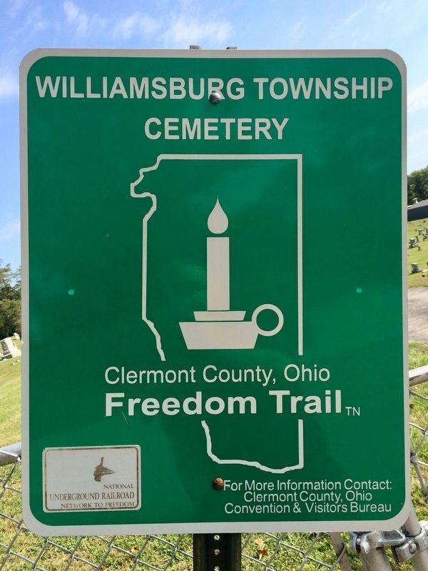 Williamsburg Township Cemetery Marker image. Click for full size.