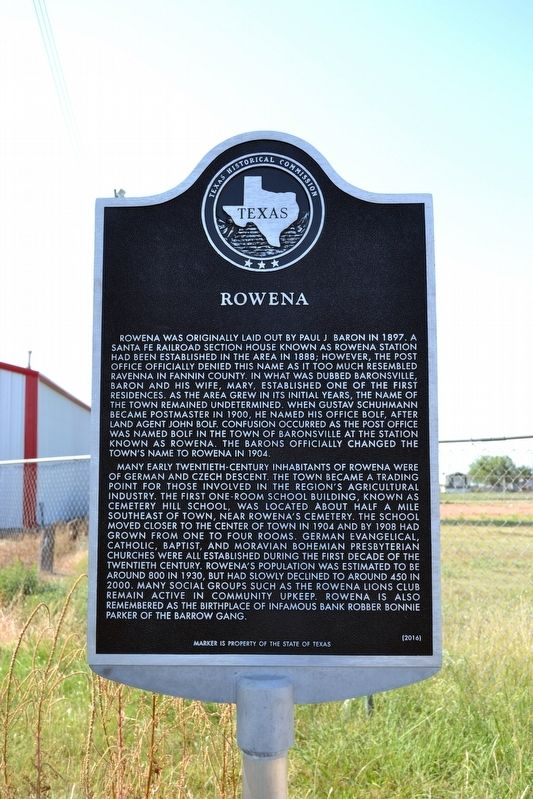 Rowena Marker image. Click for full size.