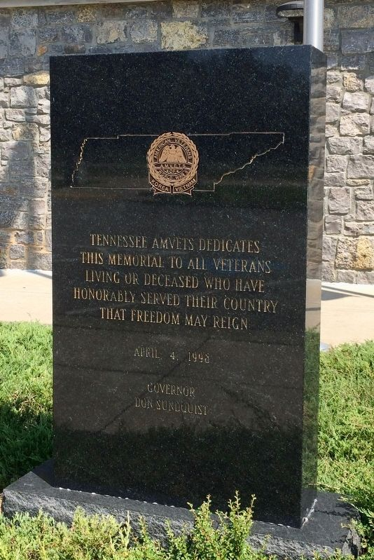 Tennessee AMVETS Veterans Memorial Marker image. Click for full size.