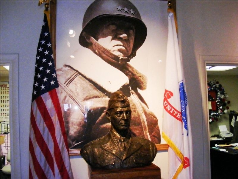 General Patton bust inside the museum image. Click for full size.