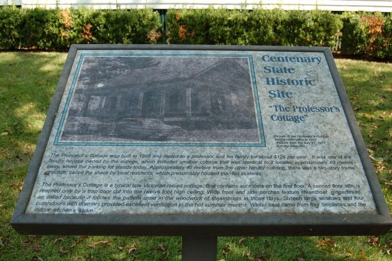 Centenary State Historic Site Marker image. Click for full size.