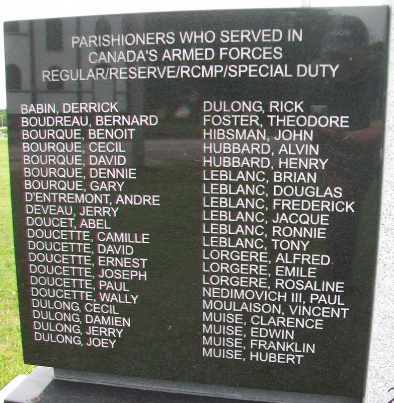 Saint Anne Catholic Church Veterans Memorial Honor Roll image. Click for full size.