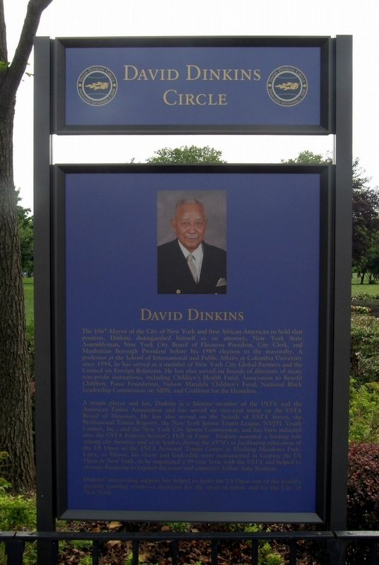 David Dinkins Circle Marker image. Click for full size.
