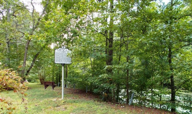 Herring (Heron) Ditch Marker, looking south. image. Click for full size.