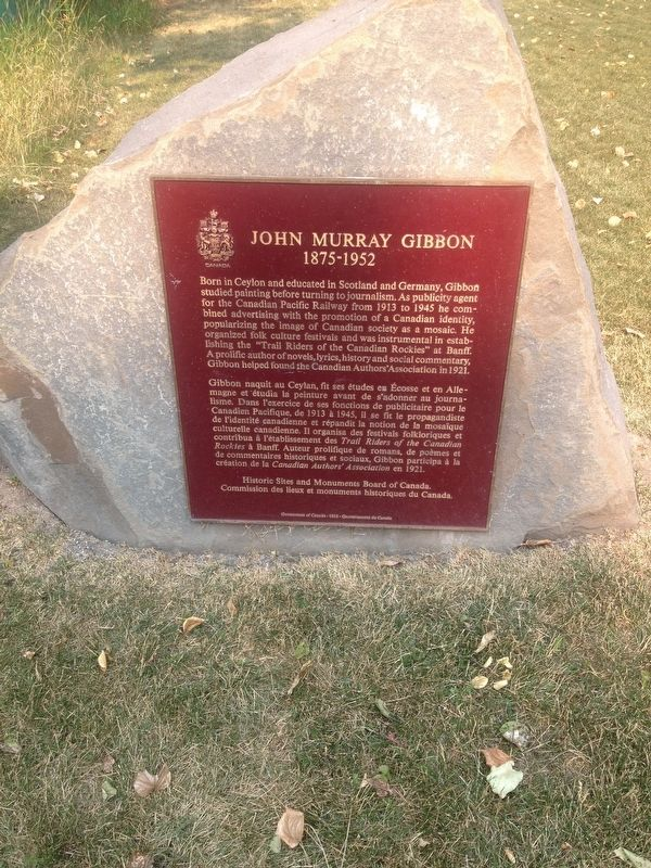 John Murray Gibbon Marker image. Click for full size.