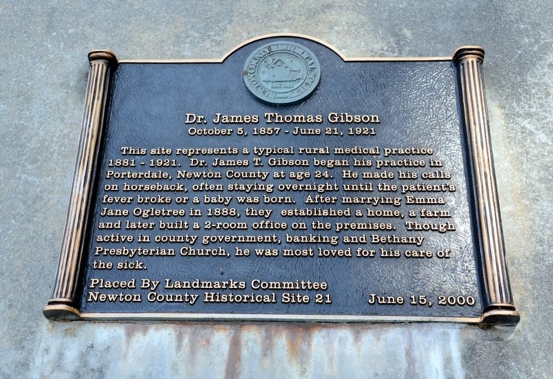 Dr. James Thomas Gibson Marker image. Click for full size.