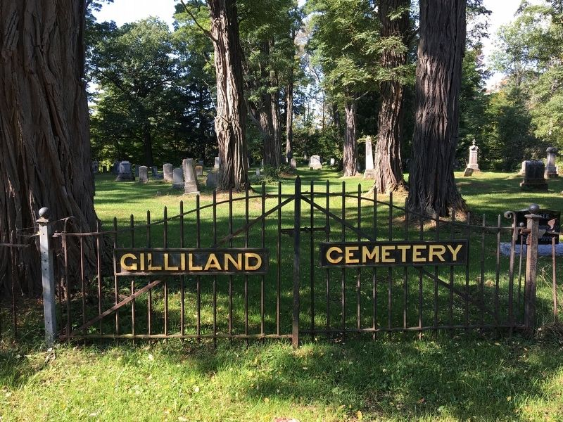 Gilliland Cemetery Gates image. Click for full size.