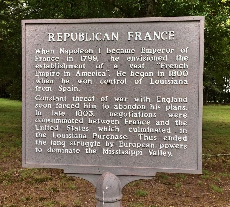 Republican France Marker image. Click for full size.