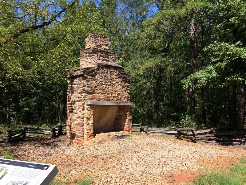 Chimney Remains In Front of Hearth and Home Marker image. Click for full size.