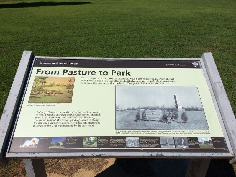 From Pasture to Park Marker image. Click for full size.