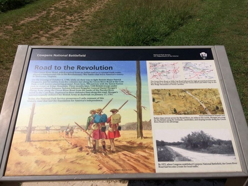 Road to the Revolution Marker image. Click for full size.