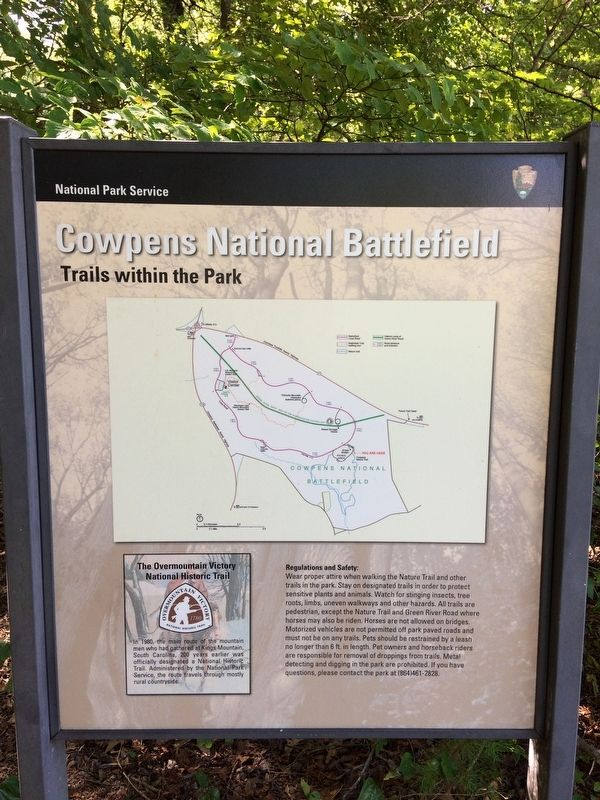 Cowpens National Battlefield Nature Trail Orientation Marker. image. Click for full size.