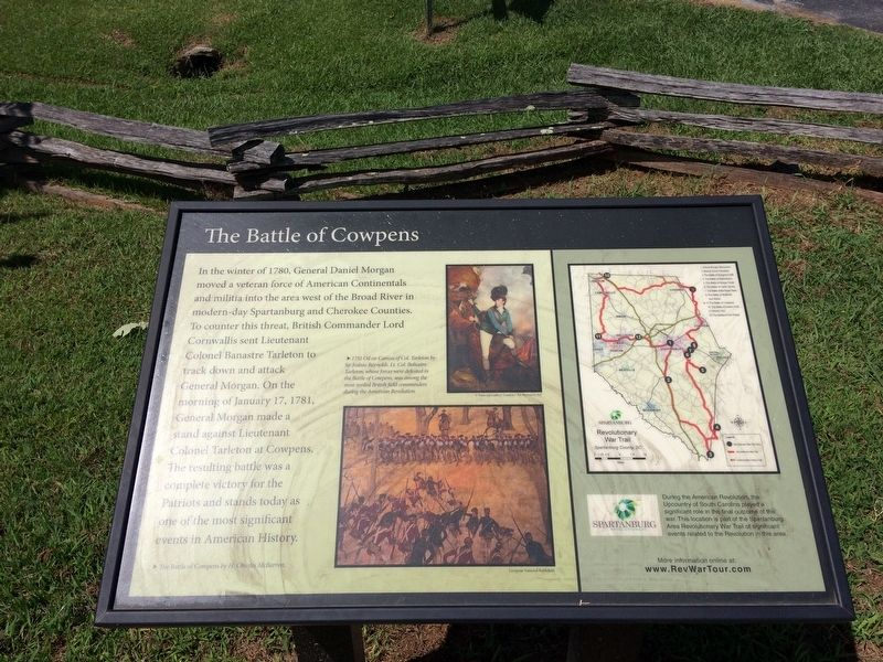 The Battle of Cowpens Marker image. Click for full size.