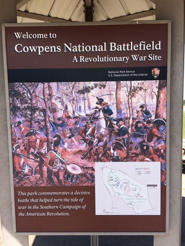 Welcome to Cowpens National Battlefield - A Revolutionary War Site image. Click for full size.