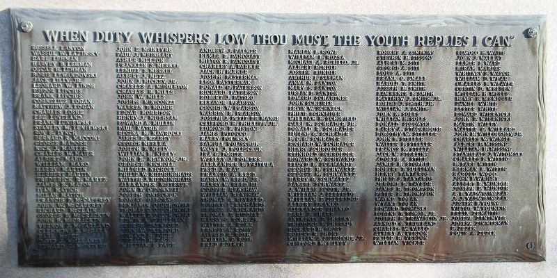 Tinicum Township Honor Roll of WWII Veterans image. Click for full size.