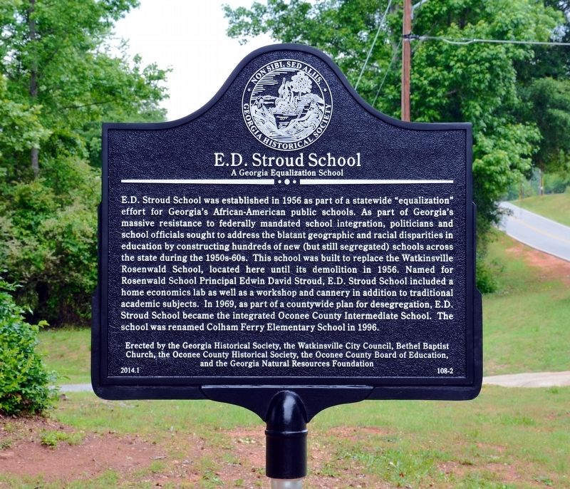 E. D. Stroud School Marker image. Click for full size.