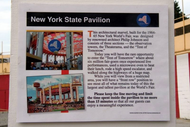 New York State Pavilion Marker image. Click for full size.