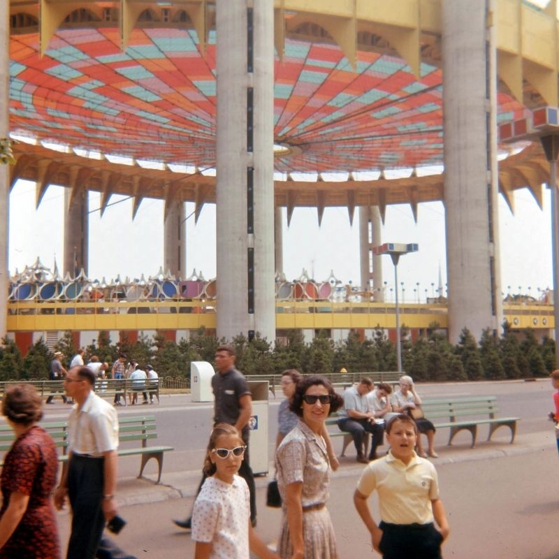 New York State Pavilion in 1965 image. Click for full size.