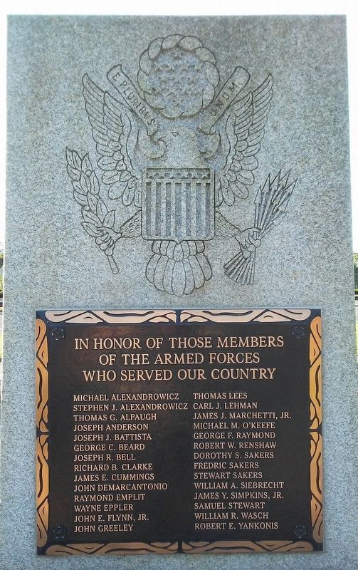 Tinicum Township Honor Roll of Veterans image. Click for full size.
