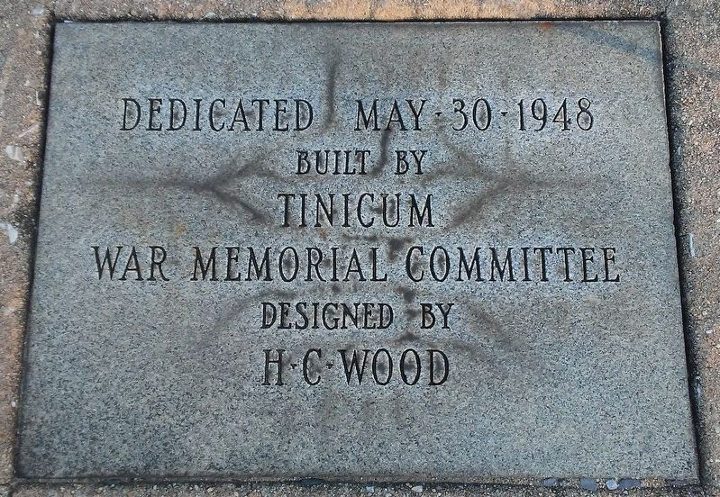 Tinicum Township World War II Memorial Dedication image. Click for full size.