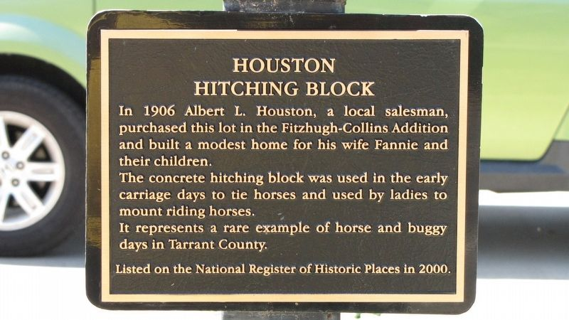 Houston Hitching Block Marker image. Click for full size.