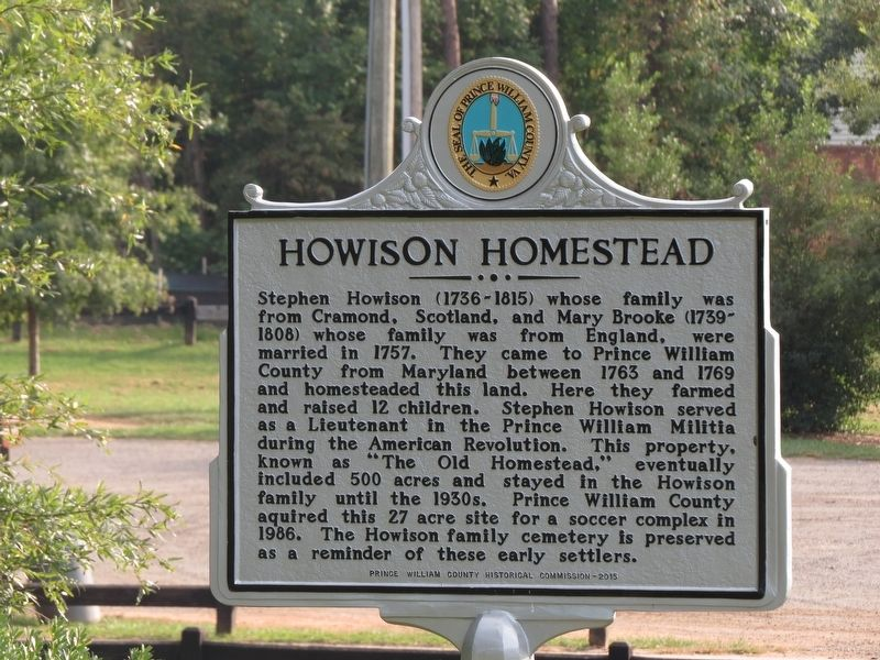 Howison Homestead Marker image. Click for full size.
