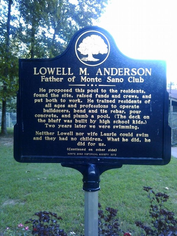 Lowell M. Anderson Marker image. Click for full size.