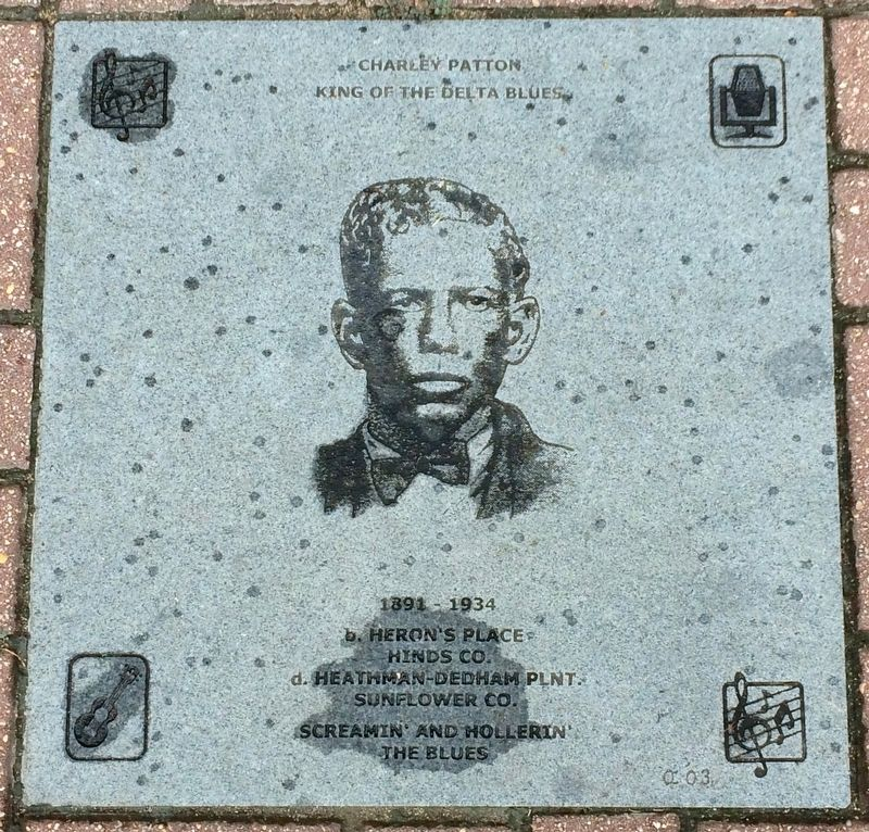 Charley Patton Marker image. Click for full size.
