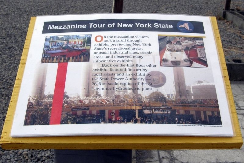 Mezzanine Tour of New York State Marker image. Click for full size.
