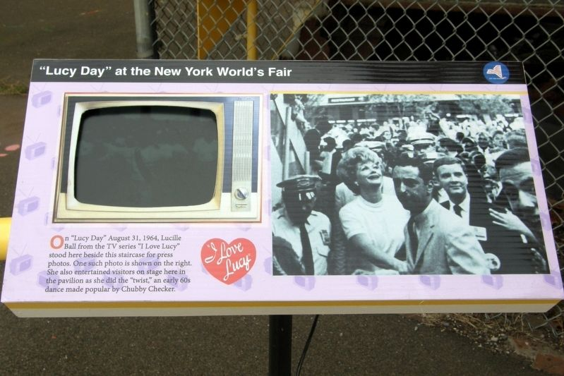 """Lucy Day"" at the New York World's Fair Marker image. Click for full size."