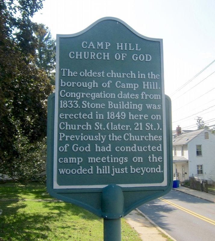 Camp Hill Church of God Marker image. Click for full size.