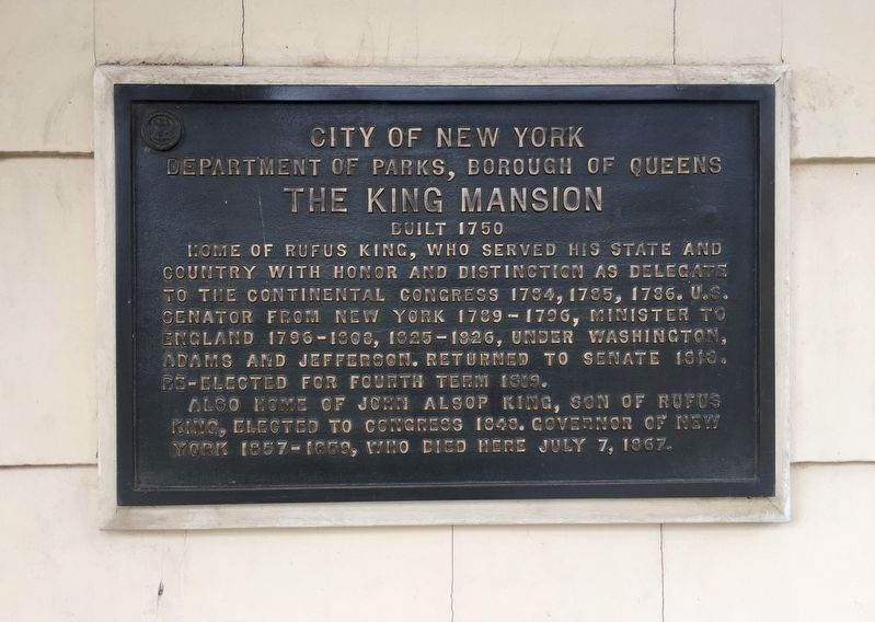The King Mansion Marker image. Click for full size.