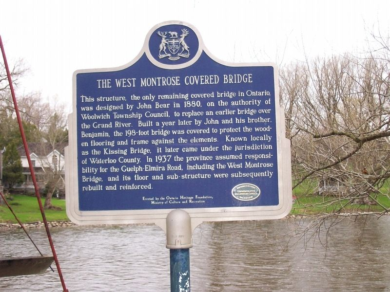 The West Monrose Covered Bridge Marker image. Click for full size.